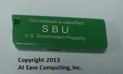 Unclassified silk screened USB drive
