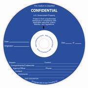 Confidential silk screened on CD/DVD Thermal printable media