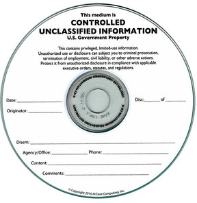 Unclassified silk screened on CD/DVD/BluRay Thermal printable media