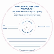 For Official Use Only Privacy Act silk screened on CD/DVD Thermal printable media