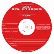 Special Access Required Secret silk screened on CD/DVD Thermal printable media