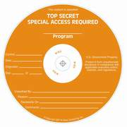 Special Access Required Top Secret silk screened on CD/DVD Thermal printable media