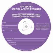 Special Access Required Top Secret(Excluded) silk screened on CD/DVD Thermal printable media
