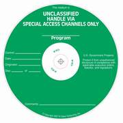 Special Access Required Unclassified silk screened on CD/DVD Thermal printable media