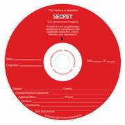 Secret silk screened on CD/DVD/BluRay Thermal printable media